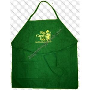 Зелёный фартук с белым логотипом детский